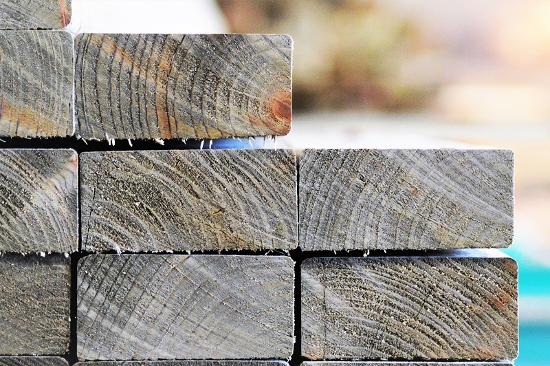 Treated Timber Stack Ends